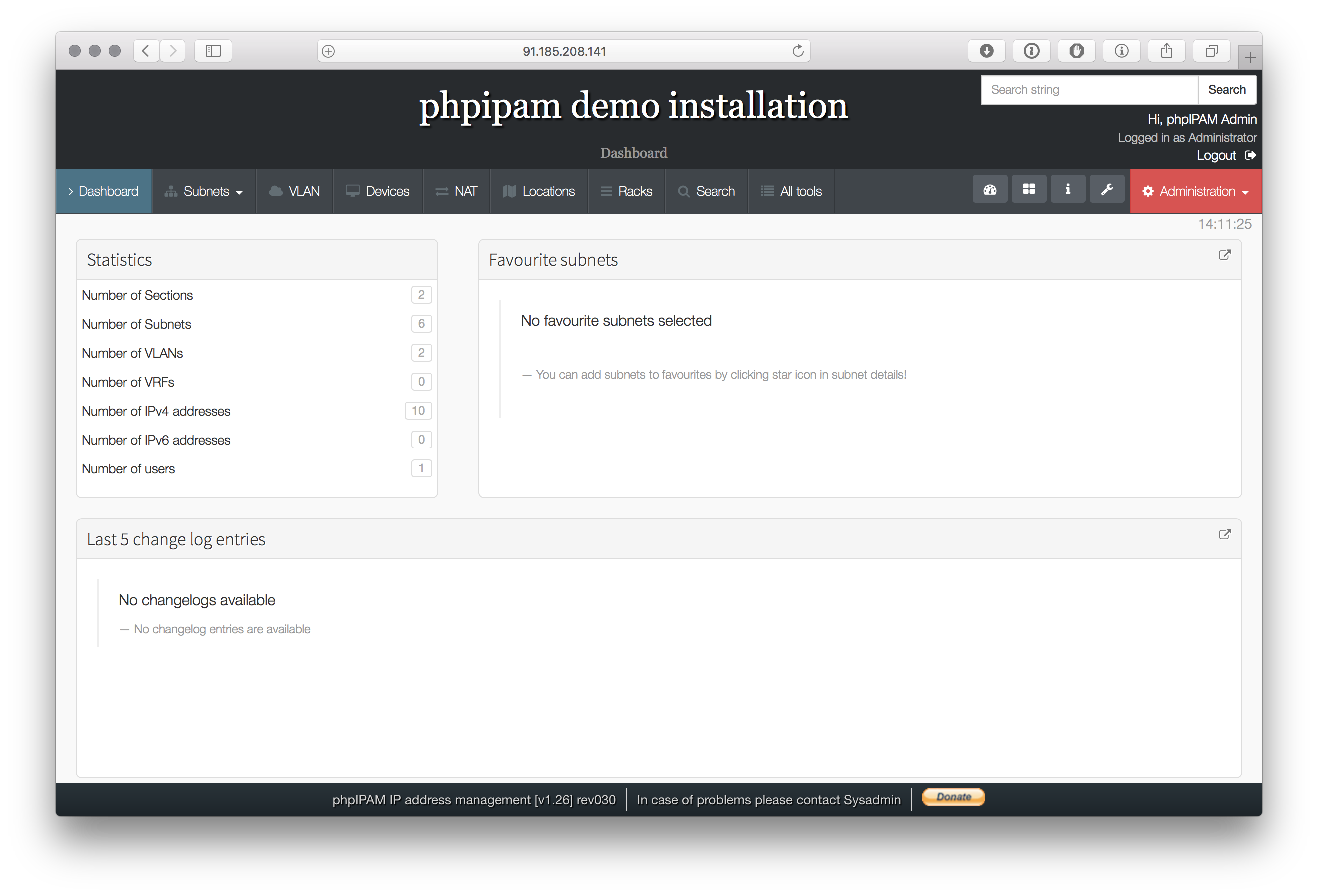 phpIPAM installation on CentOS 7